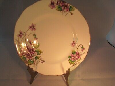 """Royal Albert February Flower of the Month Series Violets Bone China Plate 8"""""""