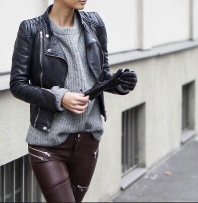 cd13ec8ac ZARA BIKER/MOTO LEATHER Jacket/Padded Shoulder.Size L. Blogger/Kylie Jenner  Fav.