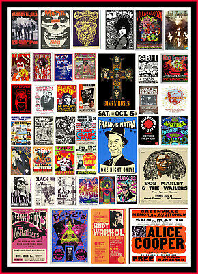 A4 Vintage Advertisement Advert Music Band Rock Concert old travel POSTER V1 #b2
