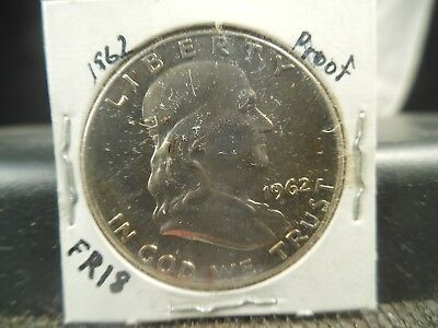 1962 Proof FRANKLIN 50c 90% SILVER PROOF FR18