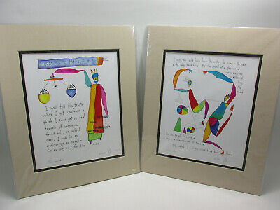 Brian Andreas Story People Signed Dated Print Matted Framed