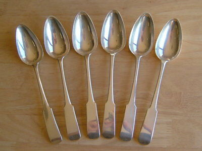 Set Of Six Antique Scottish Sterling Silver Serving/Tablespoons George Iii