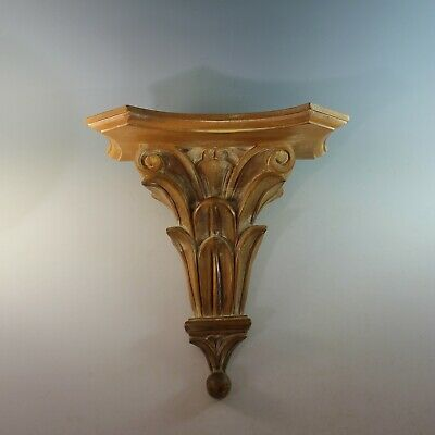 Vintage Large Ornate Florentine Carved Wall Shelf/ Bracket