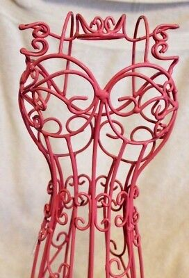 """Pink Wire Mannequin 22""""  Metal Sturdy, for Display or Decoration"""