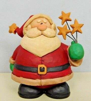 Santa is holding a list from someone and a gift box New Blossom Bucket #89112A