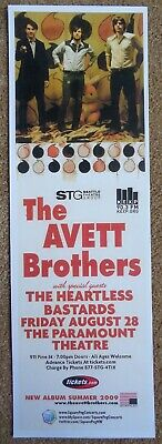AVETT BROTHERS 2009 Gig POSTER 5x17 Seattle Washington Concert