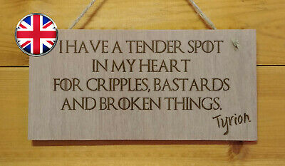 GAME OF THRONES themed Engraved Plaque sign.TV show. Fun. Tyrion Lannister quote