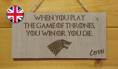 GAME OF THRONES themed Engraved Plaque sign.TV show. Fun. Cersei Lannister quote