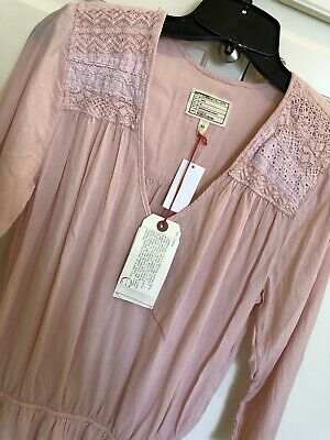 f14ee1afa53 Women s Current Elliott the Picnic Shirt Dress size 2 Forever Pink NWT