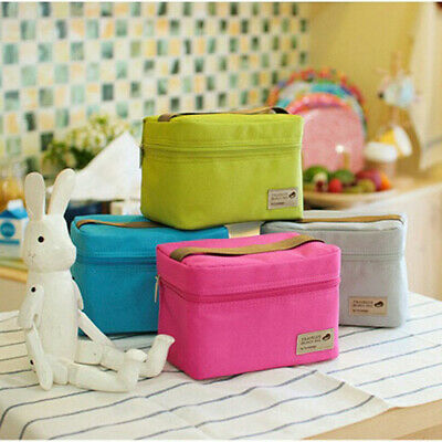 Outdoor Portable Insulate Thermal Cooler Bento Lunch Box Picnic Storage Bag Case