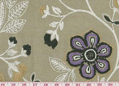 Fabulous Crewel Embroidered Upholstery Fabric By Westwood Weavers Vines Grape