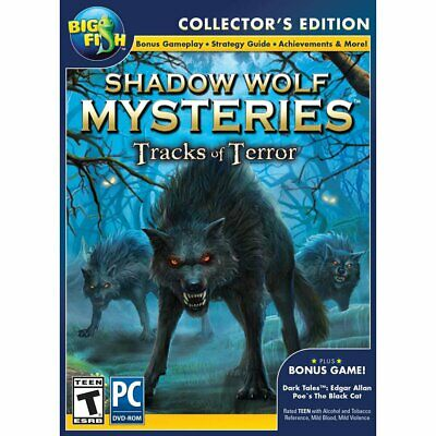 Big Fish Pc Dvd Shadow Wolf Mysteries Tracks Of Terror Collector's Edition