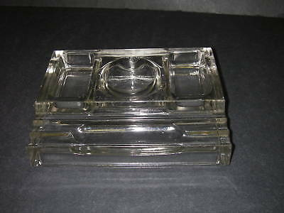 Art Deco Sengbusch No 310 Glass Inkwell & Pen Desk Tray Organizer