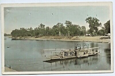 C.1910 Ht Npu Rp Postcard Punt Crossing River Murray South Australia Gd Cond Y11