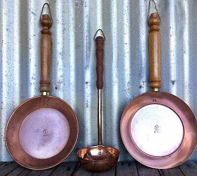 SOHO FOUNDRY Ballarat SOVEREIGN HILL Solid Copper HANGING PANS & Faberware LADLE