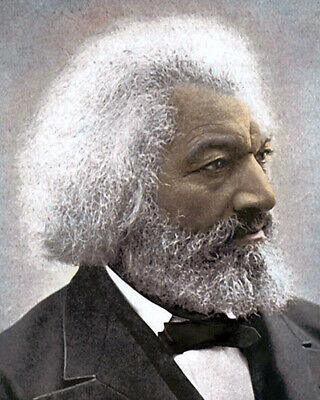 "FREDERICK DOUGLASS AFRICAN AMERICAN ABOLITIONIST 8x10"" HAND COLOR TINTED PHOTO"