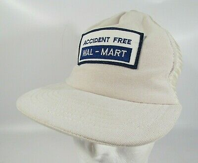 6c5ad3180c24e Vintage 80s 90s WAL-MART Accident Free Employee Trucker Hat Cap Patch
