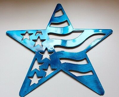"""Stars and Stripes Barn Star Metal Wall Art Decor 7/"""" Red//White /& Blue"""