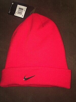 4c916456872 Nike Red orange Unisex Knit Hat One Size Fits All Cap Beanie 803734-657