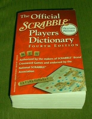 Merriam - Webster Official Scrabble Players Dictionary Book