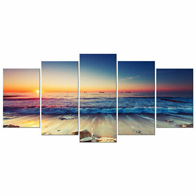 Canvas Wall Art Print Home Decor Painting Picture Landscape Sea Beach Framed