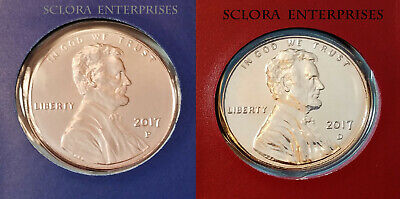 2017 P & D Lincoln Shield Cent / Penny Set *MINT CELLO*  **FREE SHIPPING**