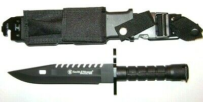 "Smith & Wesson Special Ops M-9 Bayonet Knife 8"" w/ Sheath Tactical Survival-"