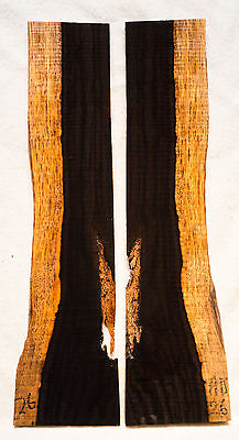 """African Blackwood #26 Knife Scales 7.8""""x1.5-2.1""""x 1/4"""""""
