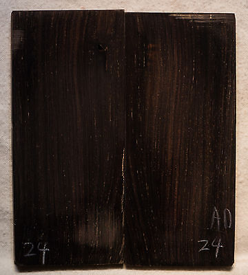 "African Blackwood #24 Knife Scales 5""x2.1-2.25""x3/8"""