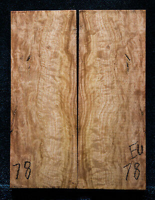 """Eucalyptus Burl #78 Knife Scales 5""""x1.9""""x3/8"""" see100 species in my store"""