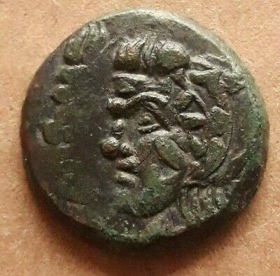 Pantikapaion Bosporos Pan Satyr Bow Arrow ПАN Tauric Chersonesos AE22 NICE COIN