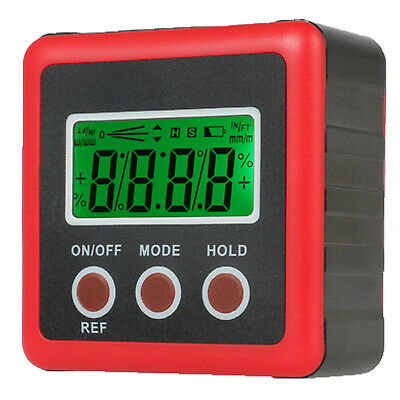 4*90° Digital LCD Protractor Level Box Angle Gauge Inclinometer Meter Finder NEW