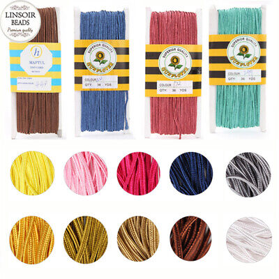 Wholesale 34yards 3mm Nylon Cord Snake Belly Rope Soutache Diy Jewelry Findings