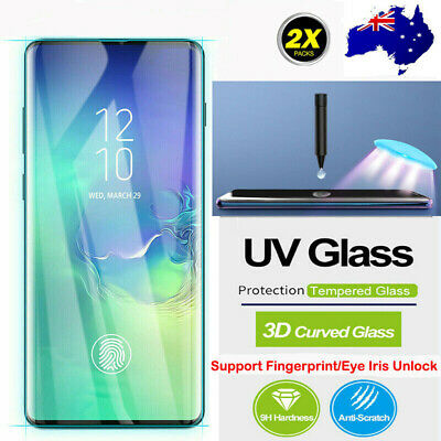 For Huawei P30 Mate 20 Pro Liquid Full UV Glue Tempered Glass Screen Protector