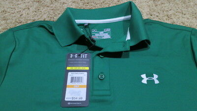 New NWT Under Armour Mens UA Golf Performance Polo Shirt Masters Green $55 MSRP