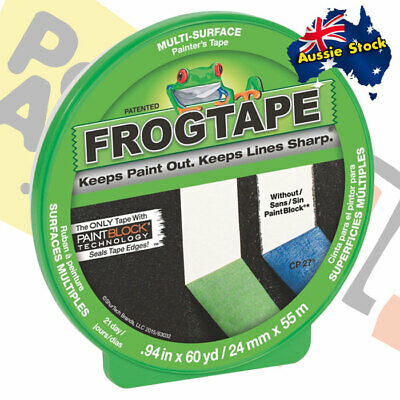 Frog Tape 21-Day Green Masking Tape 24mm x 55m Roll with PaintBlock Technology!