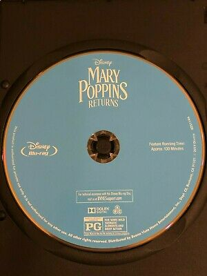 (Mary Poppins Returns (Blu-ray Disc ONLY) w/ BLANK CASE! NEVER VIEWED! SEE INFO!