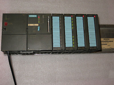 Siemens 6ES7 315-2AF02-0AB0 SIMATIC S7-300 CPU 315-2 DP w/IO modules Rack Tested