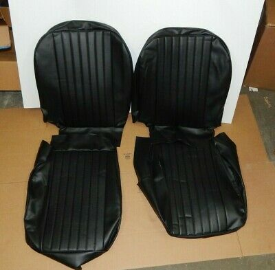 New Front Seat Covers Seat Upholstery for MGB 1973-1980 Black Vinyl