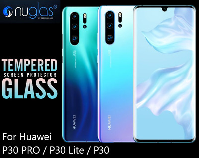 Nuglas 3D Full Cover Tempered Glass Screen Protector For Huawei P30 P30 Pro Lite