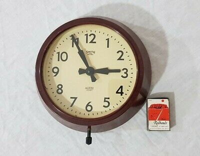 Small Smith Sectric Acelec Sydney Bakelite 240v Wall Clock (Untested)