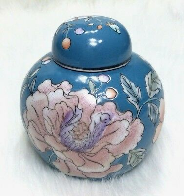 Vintage Antique CPC Macau Floral Hand Painted Porcelain Ginger Jar