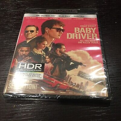 Baby Driver [New 4K UHD Blu-ray] With Blu-Ray, 4K Mastering, UV/HD Digital Cop