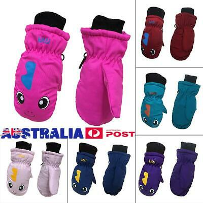 Children Kids Winter Snow Warm Gloves Boys & Girls Ski Snowboard Wind/Waterproof