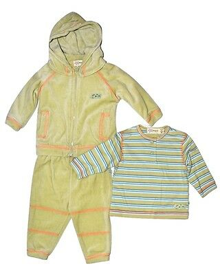 Marquise Baby Boy Girls  Hoodie & Top & Pants Set - Green Size 00