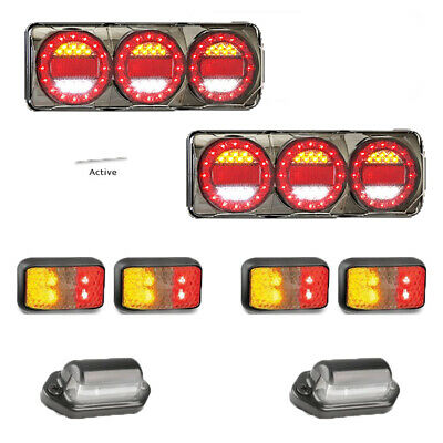 LED Custom Ute Tray 4x4 Pack: x2 Maxilamp c3XRW, number plate and x4 side lights