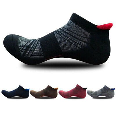 5pairs Men's Low Cut Ankle Athletic Socks Cotton Running Ventilation Sports Sock