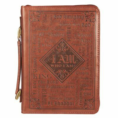 Names of God in Brown Luxleather Bible Cover, Size Medium