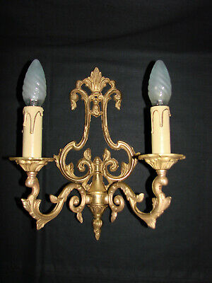 French antique bronze louis XV style candle wall sconce (n°5)