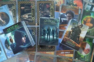 Marvel Arrow Seasons 1,3  & 4 Trading Cards Base Sets Cards & 8 Sets Of Chase